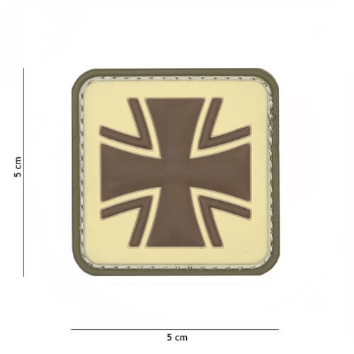 101 inc 3D PVC Patch German cross coyote