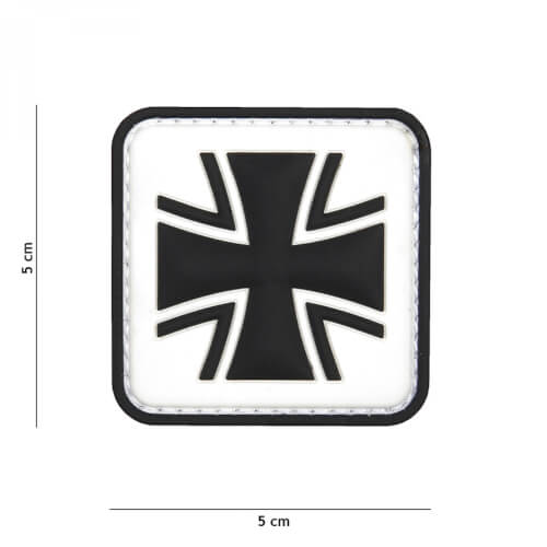 101 inc 3D PVC Patch German cross white