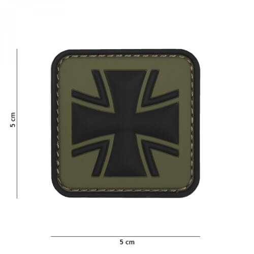 101 inc 3D PVC Patch German cross oliv