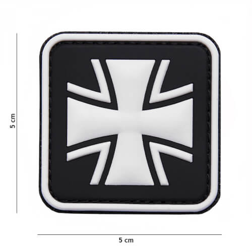 101 inc 3D PVC Patch German cross schwarz