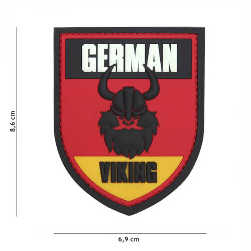 101 inc 3D PVC Patch German Viking red