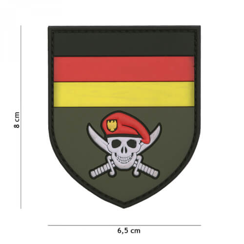 101 inc 3D PVC Patch German Commando skull