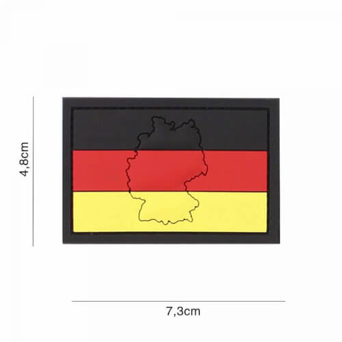 101 inc 3D PVC Patch Germany mit contour