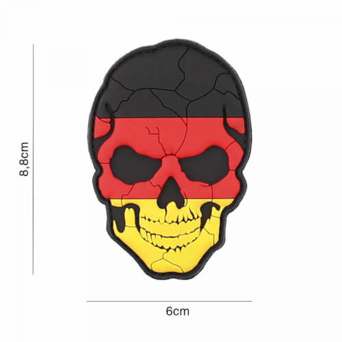 101 inc 3D PVC Patch skull Germany cracked