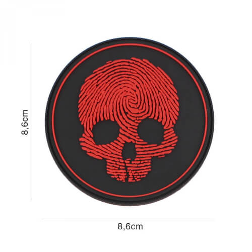 101 inc 3D PVC Patch fingerprint red