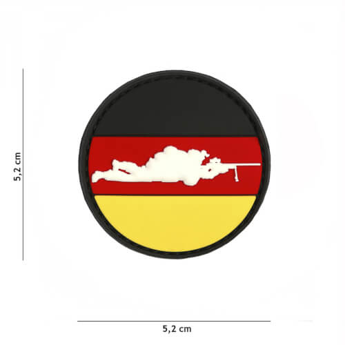 101 inc 3D PVC Patch Sniper Germany round