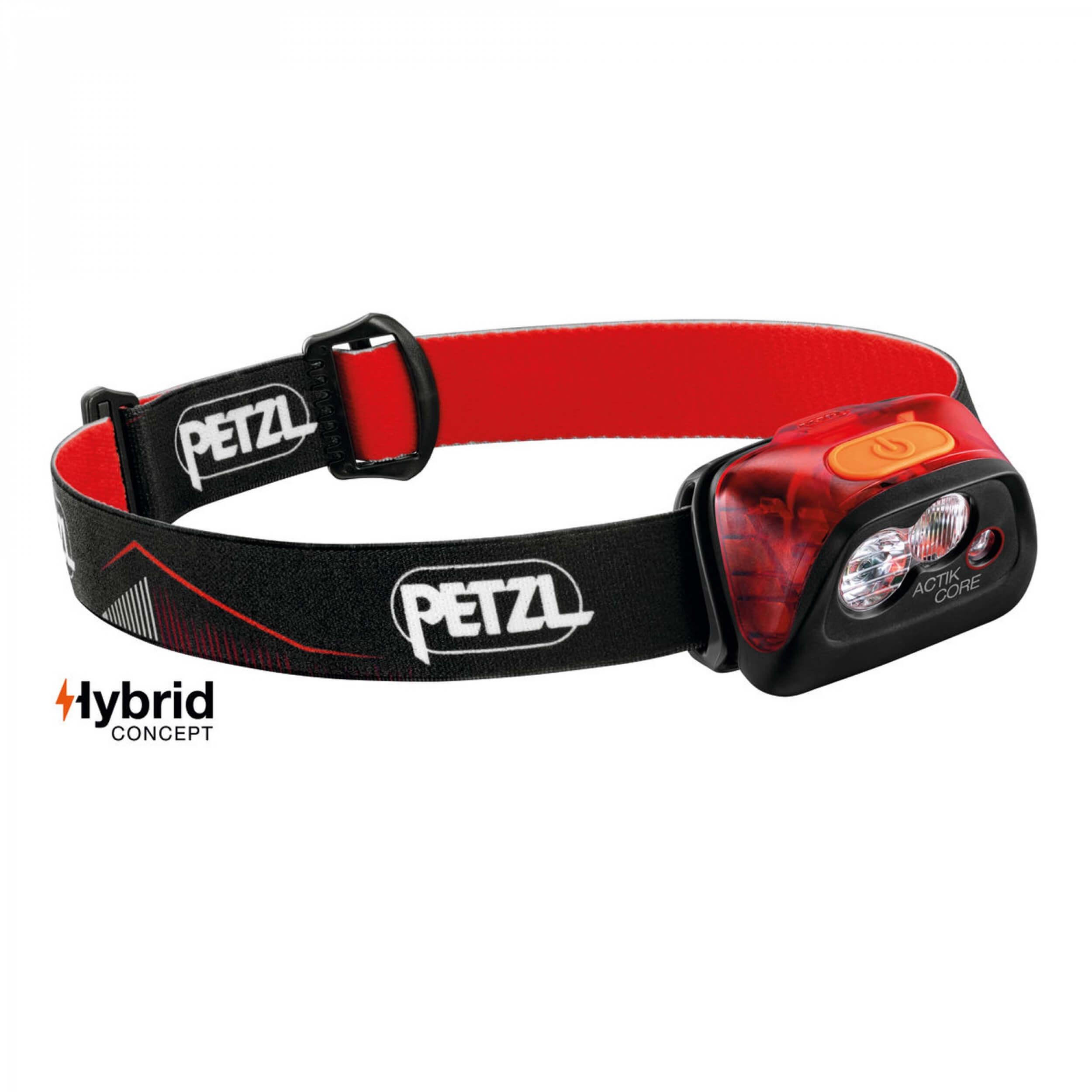 Petzl ACTIK CORE 450 Lumen schwarz/rot