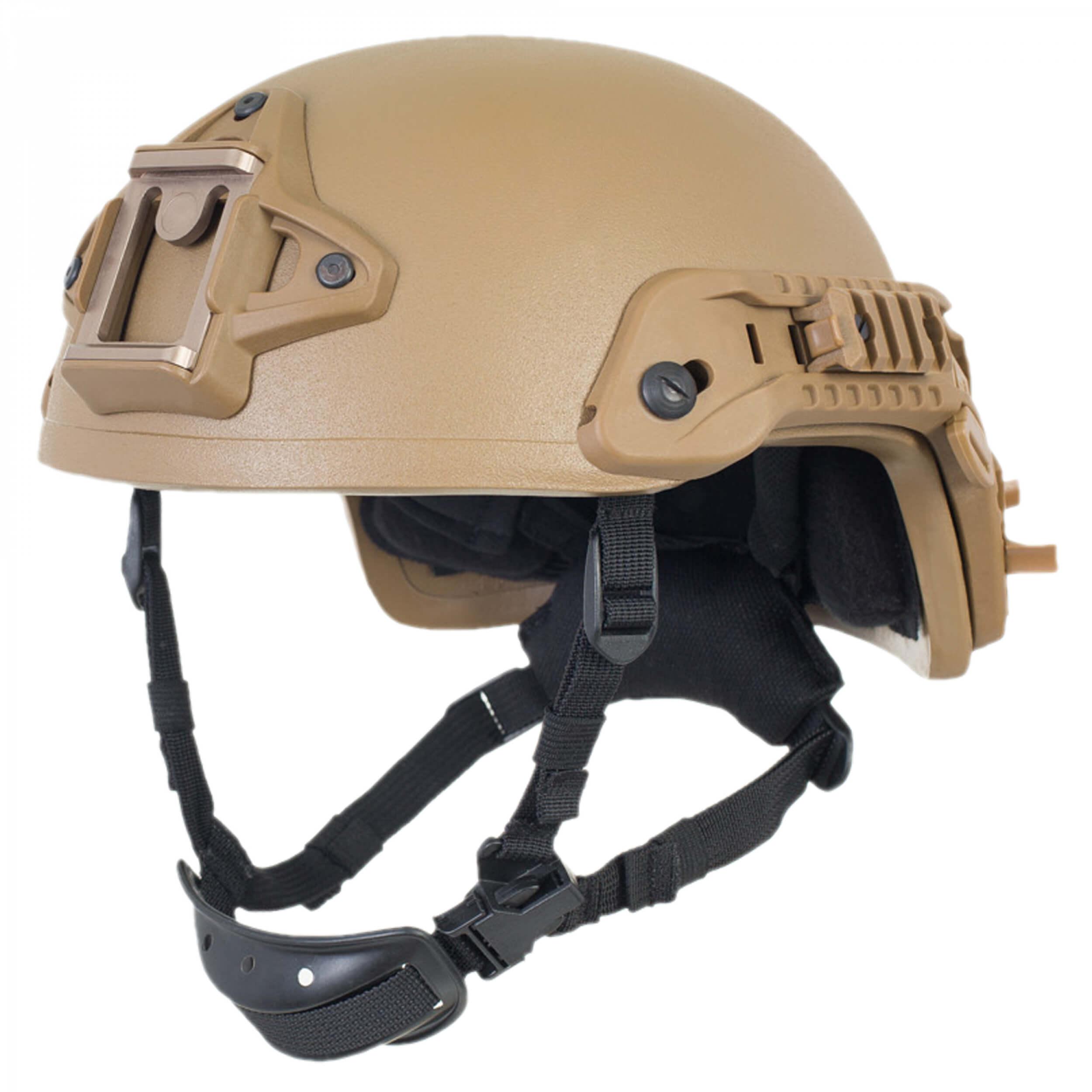 HCS Viper 3 SHC Helm mit Rails NVG Mount und Pad-System coyote