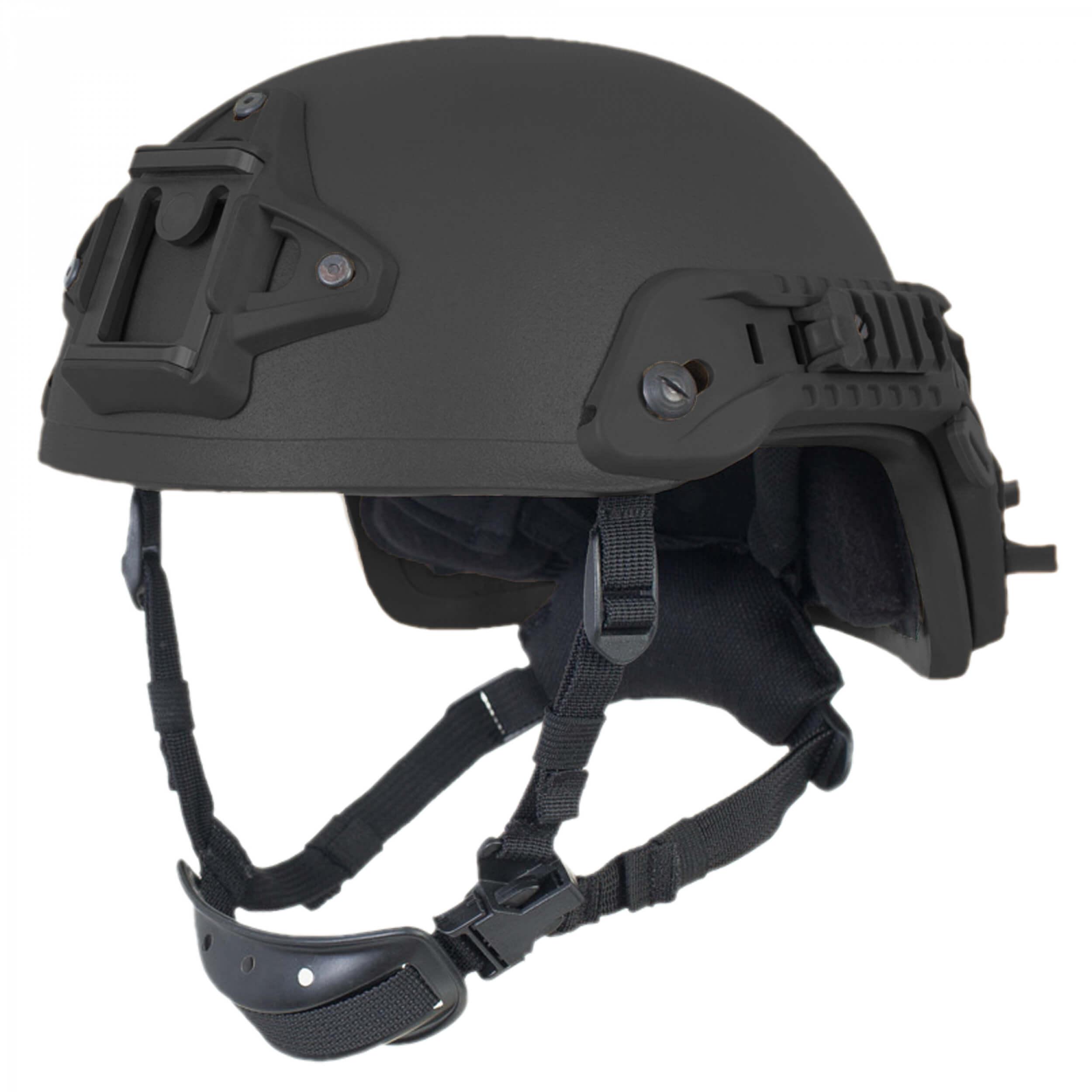 HCS Viper 3 SHC Helm mit Rails NVG Mount und Pad-System schwarz