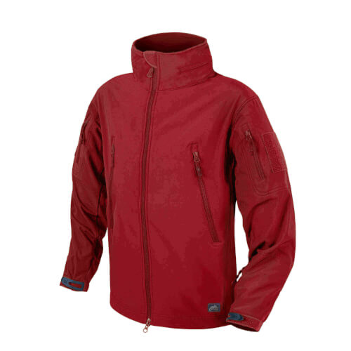Helikon-Tex Gunfighter Jacke - Shark Skin Windblocker crimson sky