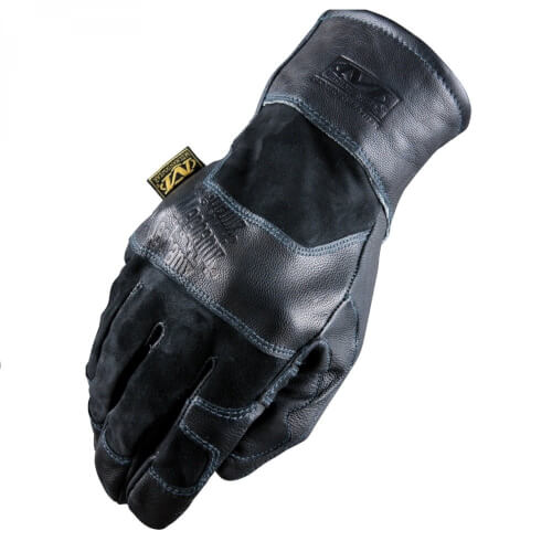 Mechanix TAA Leather Gauntlet black Größe S