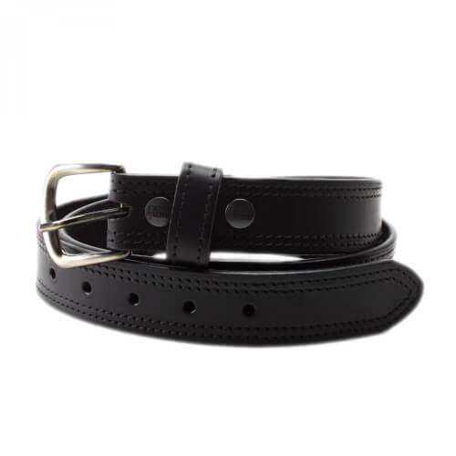 FrontLine Ledergürtel 40mm schwarz