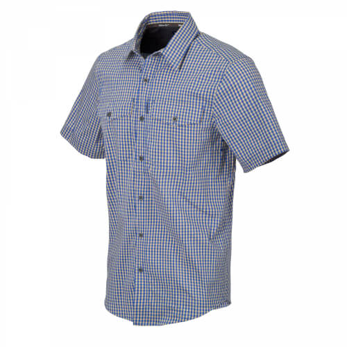 Helikon-Tex Covert Concealed Carry Short Sleeve Shirt - Royal Blue Checkered