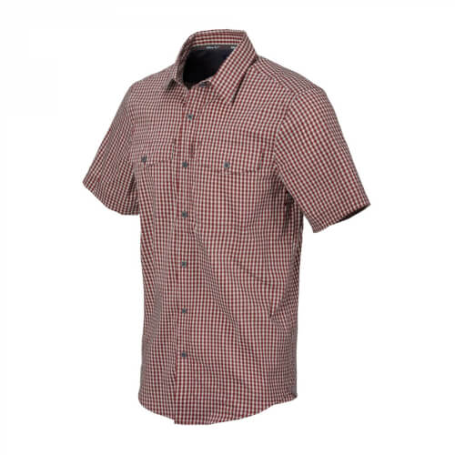Helikon-Tex Covert Concealed Carry Short Sleeve Shirt - Dirt Red Checkered