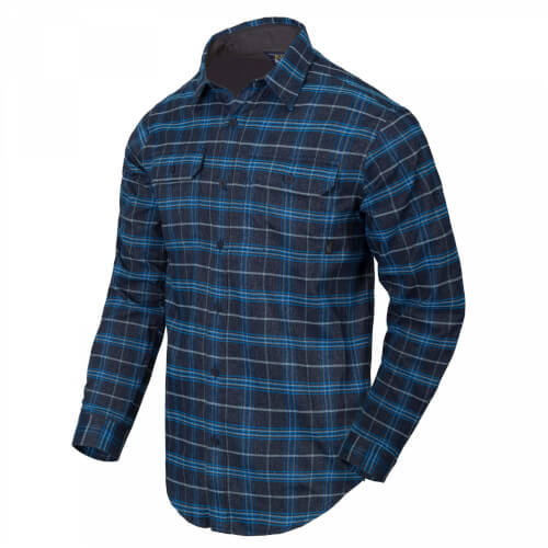 Helikon-Tex GreyMan Shirt blue stonework plaid