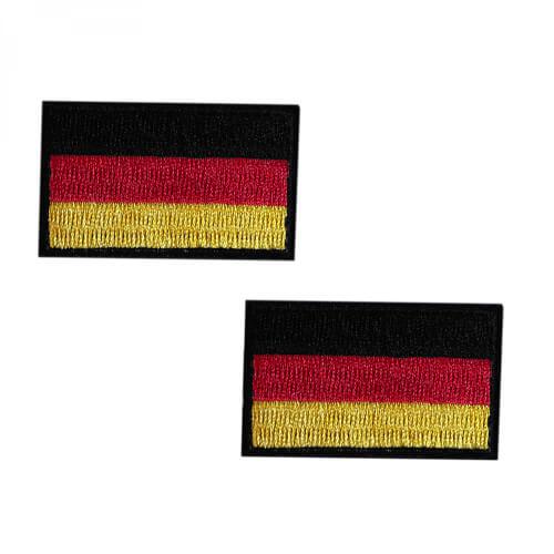 Deutschland Flagge Stoff-Patch 2 Stück im Set 5x3cm