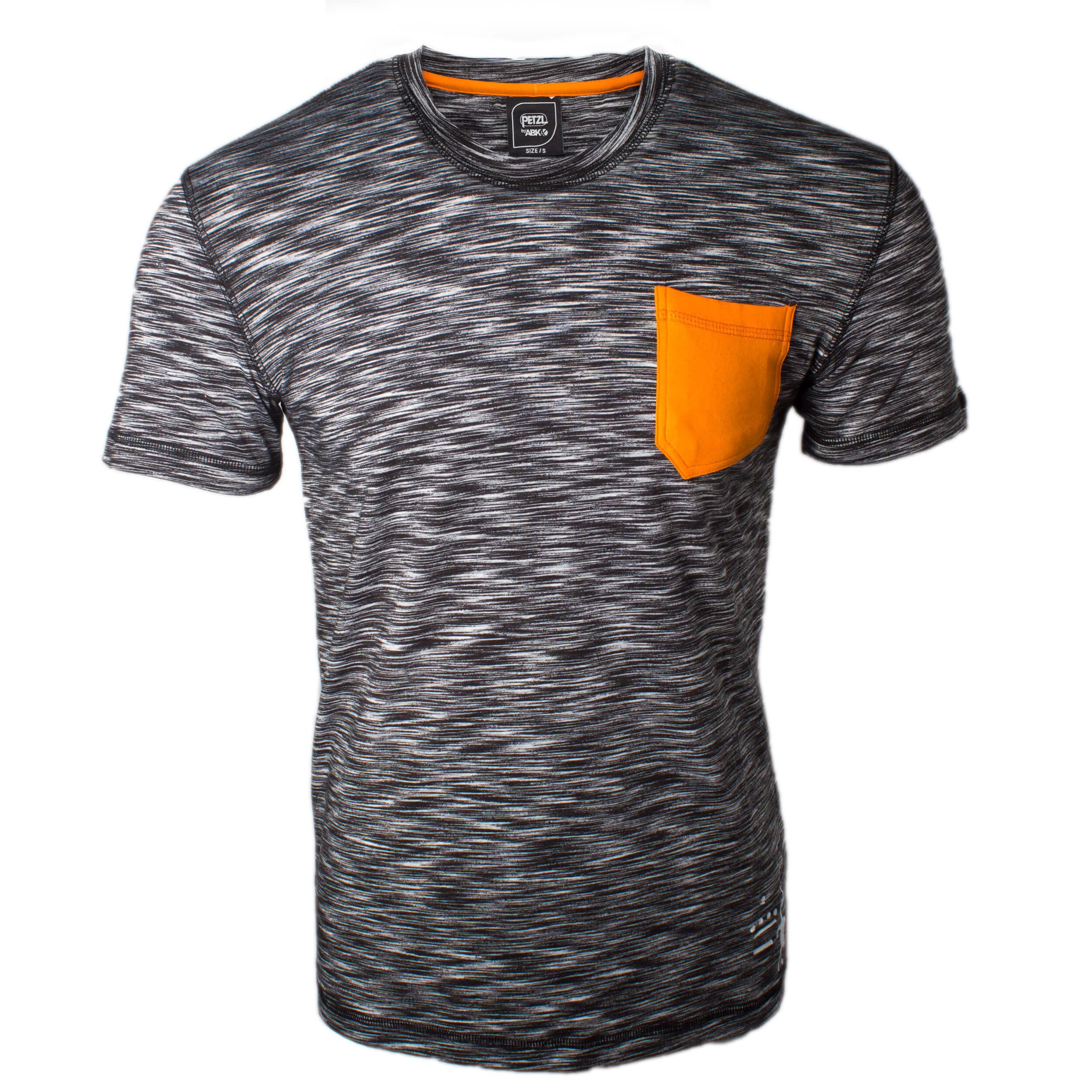 Petzl City Sport T-Shirt schwarz/weiß meliert