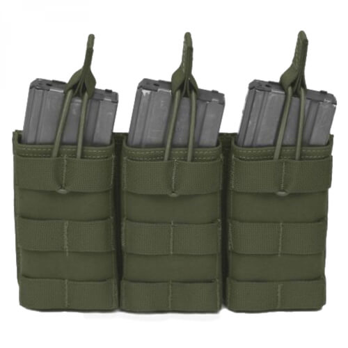 Warrior Triple Open Mag Pouch M4 oliv