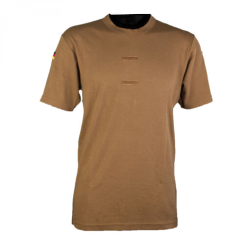 Mil-Tec BW Tropen T-Shirt m. Nationalabzeichen 2er Pack coyote