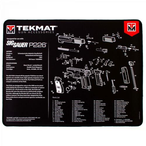 TEKMAT Sig Sauer P226 Ultra Premium Waffenreinigungsmatte 15x25 Zoll B-WARE
