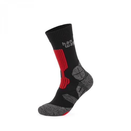 Hanwag Trek Socken asphalt/red