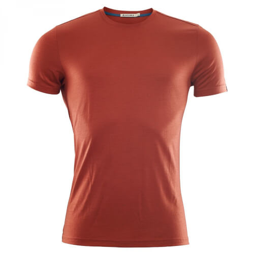 Aclima Lightwool T-Shirt Round Neck Man red ochre