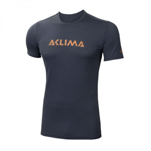 Aclima Lightwool T-Shirt W/Logo iron gate