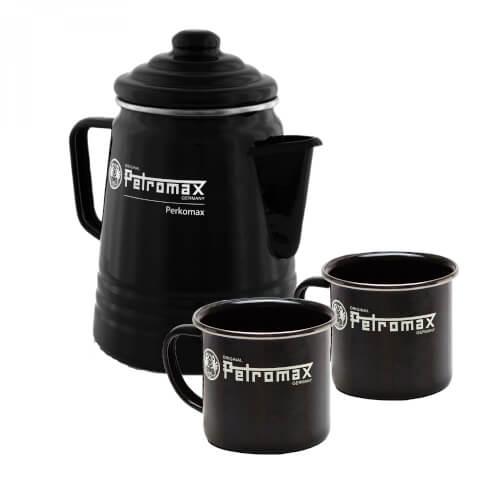 Petromax Perkolator + Tassen im SET schwarz
