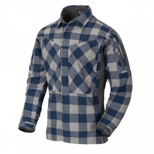 Helikon-Tex MBDU Flannel Shirt - Slate Blue Checkered