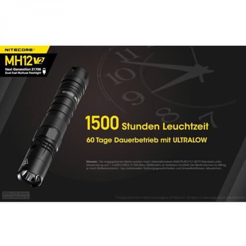 NiteCore MH12 V2 - 1200 Lumen