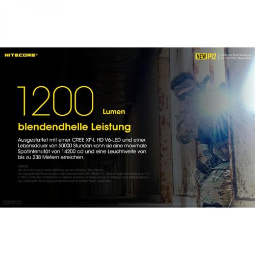 NiteCore New P12R inkl. NL2150R - 1200 Lumen
