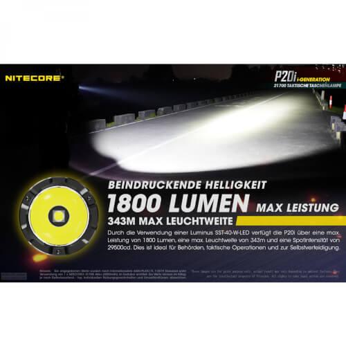NiteCore P20i - 1800 Lumen