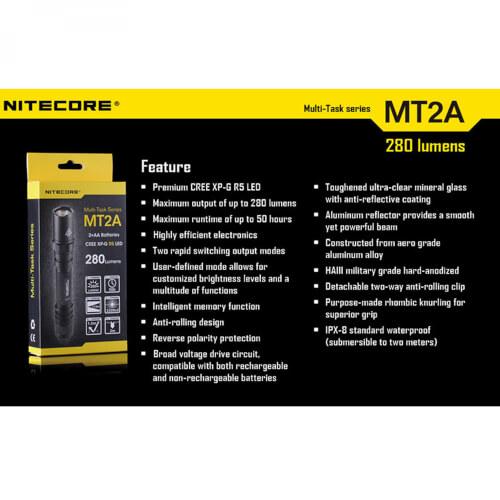 NiteCore MT2A