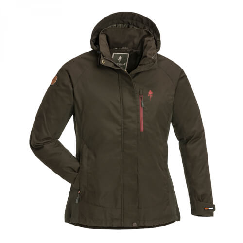 Pinewood Jacket Caribou TC Extreme Damen Suede Brown/D.Copper