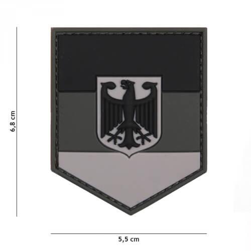101 inc 3D PVC Patch shield German grey