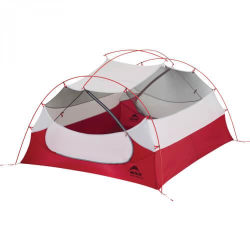 MSR Mutha Hubba NX ultraleichtes Drei-Personen Zelt für Rucksacktouren green