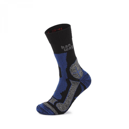 Hanwag Trek Merino Socke black/royal blue