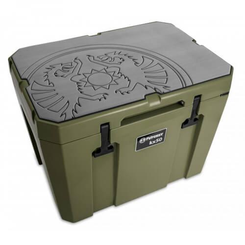 Petromax Haft-Auflage für Kühlbox Drachenemblem grau