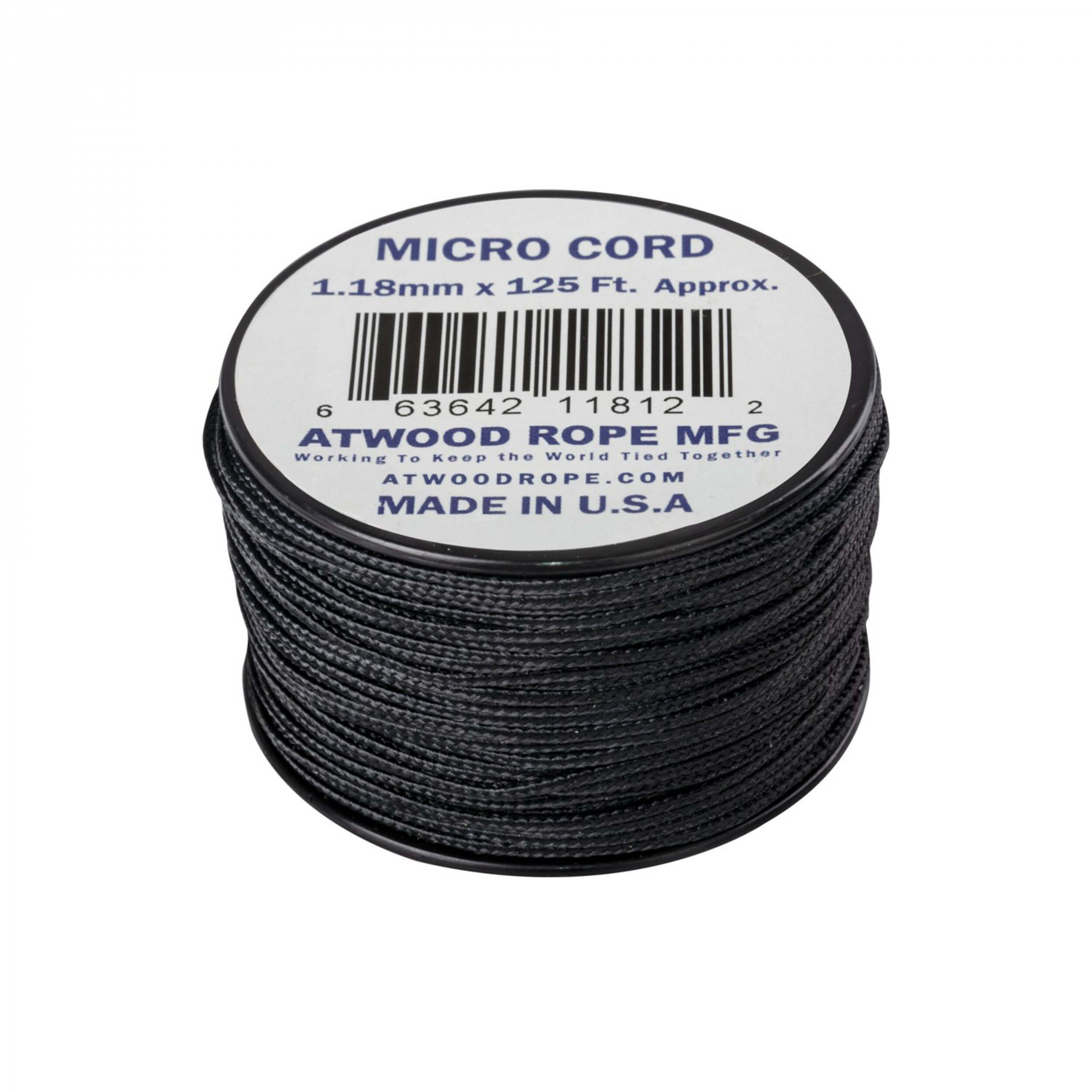 Helikon-Tex Micro Cord (125 FT) black