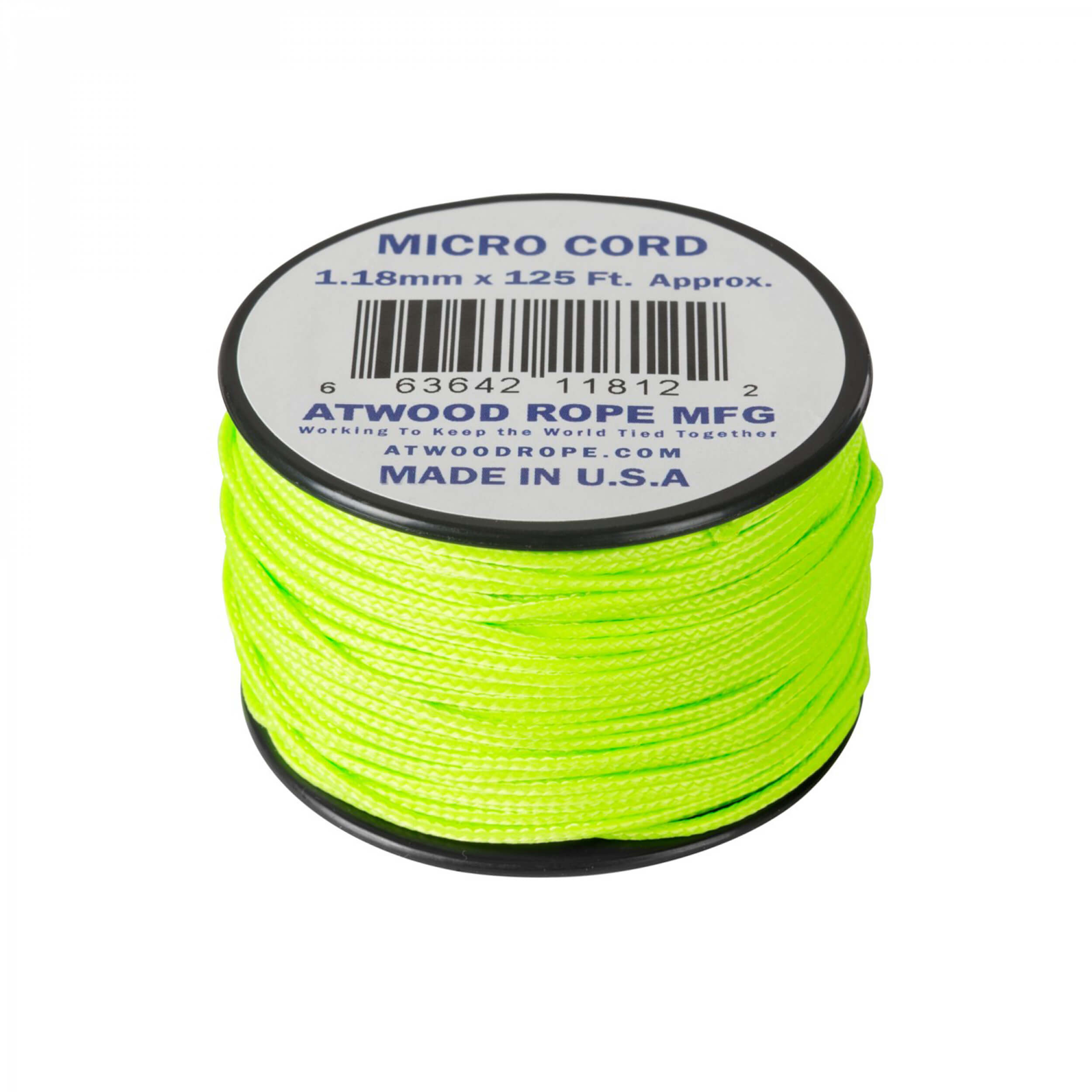 Helikon-Tex Micro Cord (125 FT) neon green
