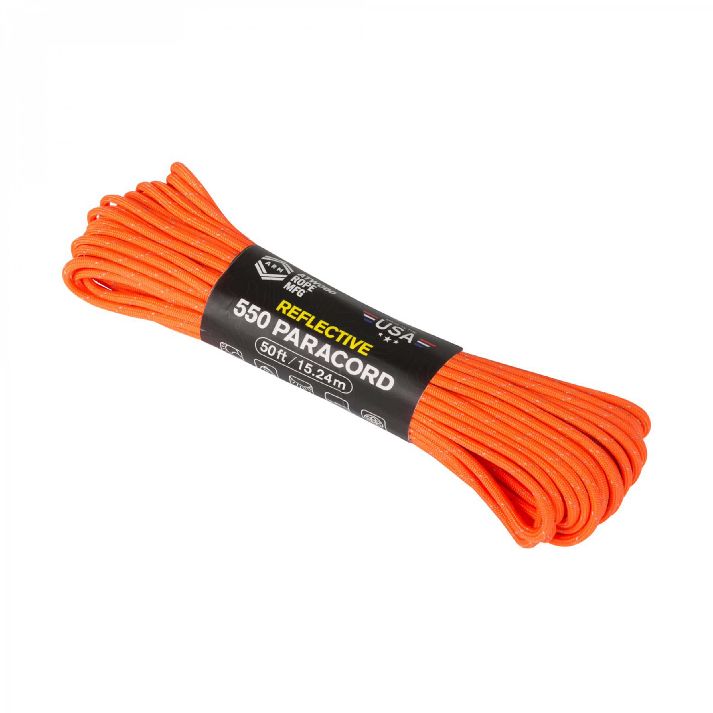 Helikon-Tex 550 Paracord Reflective (50FT) neon orange