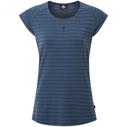 Mountain Equipment Equinox Women's Tee demin blue stripe