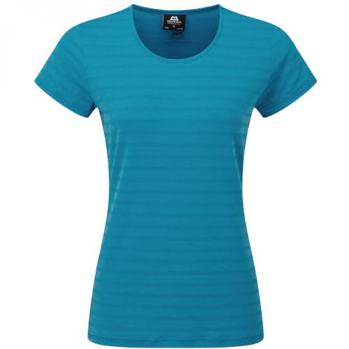 Mountain Equipment Stripe Women's Tee digital blue stripe