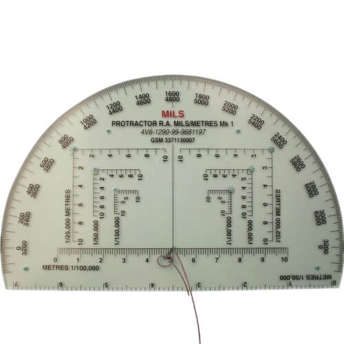 BCB Military Protractor Accurate 6 RA Mils Kartenlesewinkelmesser
